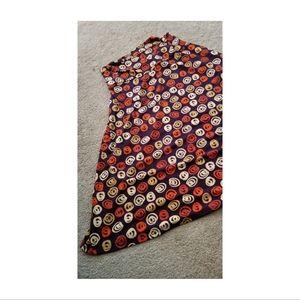 Lularoe Azure A-line Midi Skirt in Fall Print